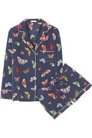 EquipmentLilian printed silk crepe de chine pajama set