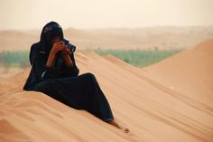 desert hijab photography - reminds me of the dunes of Al Hebab Desert in Dubai