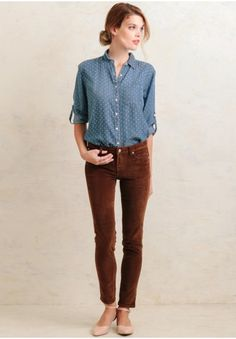 Barbara Lesser Corduroy Cigarette Straight Leg Pant | What to Wear ...