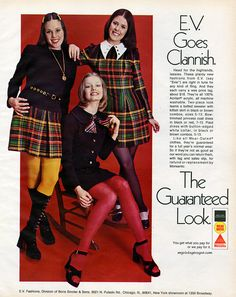 E.V. Fashions advertisement, 1972. Pam Dawber is top right
