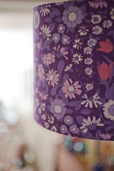 AliBee Wares - Purple vintage fabric lampshade - available at the #PrettyDandyFlea
