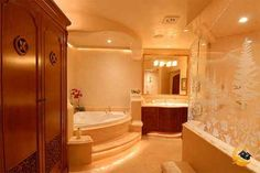 Lighting Ideas For Bathroom ~ http://topdesignset.com/choosing-the-right-chic-bathroom-lamps-for-your-bright-relaxation/
