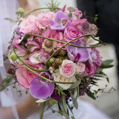 Brautstrauß in violett und pink ♥