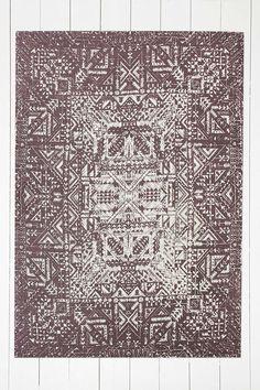 Tapis Izmir Maze bordeaux 5x7