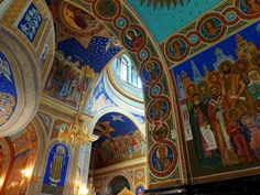Inside the Nativity Cathedral, Chişinău (Moldova) by frans.sellies I just love the detail that goes into these painting's