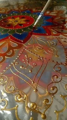 Discover recipes, home ideas, style inspiration and other ideas to try. Mandala Art, Mandala Painting, Dot Painting, Mandala Design, Glass Painting Patterns, Glass Painting Designs, Paint Designs, Painted Patterns, Stained Glass Patterns Free