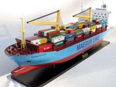 Maersk Alabama Container Model Ship