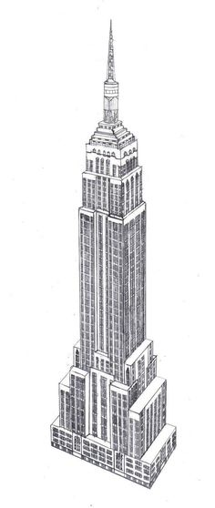 how to draw chrysler building