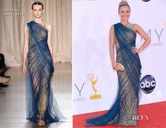 Hayden Panettiere In Marchesa – 2012 Emmy Awards.  #redcarpet