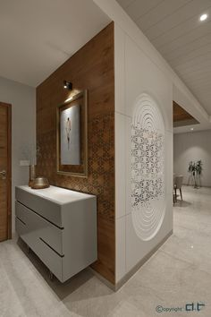 Pooja Room Door Design, Foyer Design, Home Room Design, Home Interior Design, House Design, Bed Design, Apartment Interior, Bathroom Interior, Home Entrance Decor