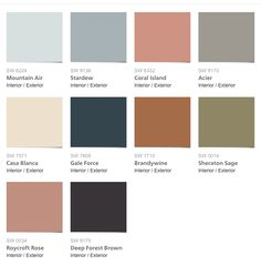 Sherwin Williams Colormix 2017 Collection Holistic Exterior Paint Colours