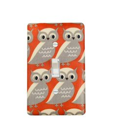 Owl Light Switch Plate Cover Burnt Orange Cream By Sskdesigns 16 00 Tan Nursery