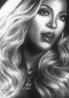 beyonce 'blow' by marika-k on DeviantArt ~ pencil drawing | First pinned to Celebrity Art board here... http://www.pinterest.com/fairbanksgrafix/celebrity-art/ #Drawing #Art #CelebrityArt