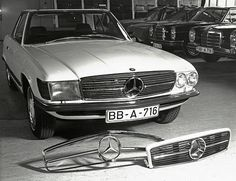 Mercedes-Benz 300 SL Prototype with grille tests.