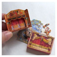 Dolls' House Miniature - Wooden Toy Theatre (fairy Garden)
