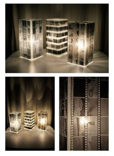 Use old negatives and a lamp from Ikea to make this cool lamp. such a cool idea! Buy this lamp at Ikea for only 5 euro: CHECK! Crafts To Do, Home Crafts, Diy Home Decor, Home Design, Deco Dyi, Photo Negative, Home And Deco, Crafty Craft, Crafting
