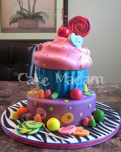 Birthday Surprise Cupcake cake
