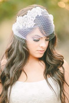 Vintageinspired double layered birdcage veil by LoveSparklePretty