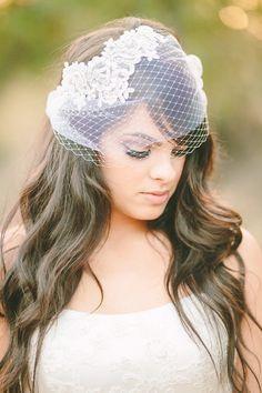 Vintageinspired double layered birdcage veil by LoveSparklePretty