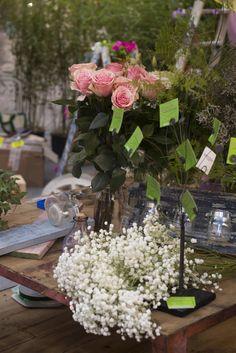 Detalles florales del taller de centros florales naturales impartido por Chus y Sara de Cercis