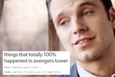 Steve Rogers, Bucky Barnes, and Text Posts