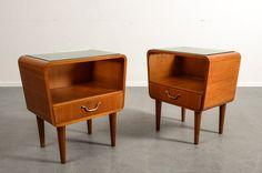 Bedside tables, birch, Scandinavia 1930s/40s