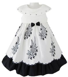 Girls Dress White Black Wedding Pangeant Party Child Clothes Size 4 Sunny Fashion,http://www.amazon.com/dp/B00B2DN1DW/ref=cm_sw_r_pi_dp_zqWDrbA3E23A4394