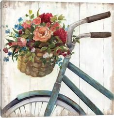 Courtside Market Sunday Ride Canvas Wall Art X Framed Wrapped Canvas Multi
