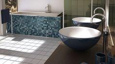 As cores fazem diferença no ambiente. Então escolha a sua cor favorita para o banheiro!