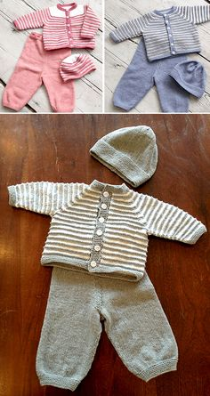 Photo above © Mirdiz This knitting pattern / tutorial is available for free. Baby Boy Knitting Patterns Free, Knit Patterns, Free Knitting, Knitted Baby Cardigan, Knitted Baby Clothes, Layette Pattern, Baby Sewing Projects, Quick Knits, Baby Sweaters