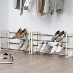 Rebrilliant Expandable 20-Pair Stackable Shoe Rack Vertical Shoe Rack, Vertical Storage, Shoe Rack Organization, Shoe Organizer, 8 Pair Shoe Rack, Open Shelving, Shelves, Easy Bathroom Updates, Stackable Shoe Rack