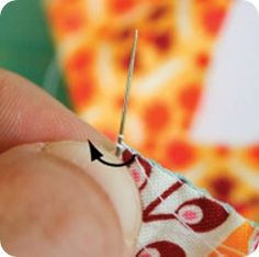 How to knot on hexagon quilts