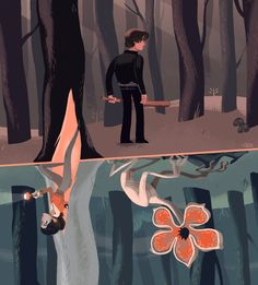 (1) Twitter -Stranger Things - Nancy and Jonathan Make a discovery by Glen Brogan