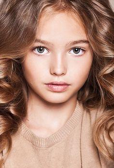 Anastasia Bezrukova, a Russian child model.