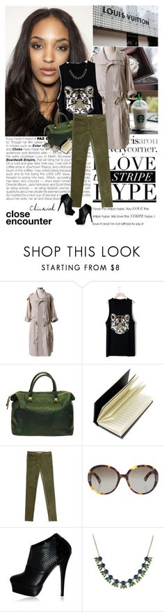 """###"" by hug-voldemort ❤ liked on Polyvore featuring Dunn, Chloé, Spinning Hat, Givenchy, MaxMara, Chicwish, skinny jeans, top handle bags, loose tank tops and khaki pants"