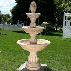 Sunnydaze 3Tier Cornucopia Outdoor Water Fountain 61 Inch Tall *** Want additional info? Click on the image. Note: It's an affiliate link to Amazon