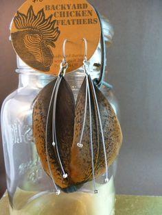 Backyard Chicken Feather Earrings (too strange?)