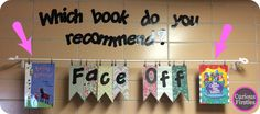 engage students by asking them to recommend books to others---this is a quick and easy idea for a bulletin board or wall. FREEBIE included.