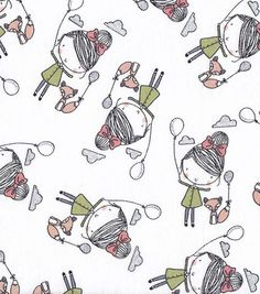 """Snuggle Flannel Fabric-Balloon Friends Nursery Fabric Concord House Sloan Delicate Lace Flannel  JoAnn Fabric & Craft Stores  *Receipt Description: """"SHAN BALLOON FRIENDS #400146958942"""" Purchased in Store 1-24-2016, Riverdale, UT 84405-7105"""