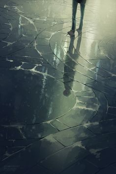 The streets were covered in rain, and the reflections made it look as if there was another city beneath the ground. ~Ash Brownd