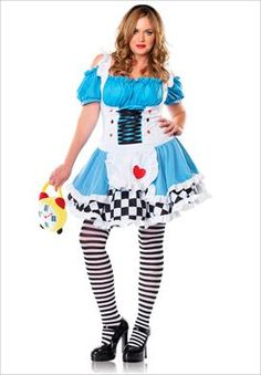 Miss Wonderland Plus Size Adult Halloween Costume | Plus Size Plus Size Halloween Costumes | Woman Within