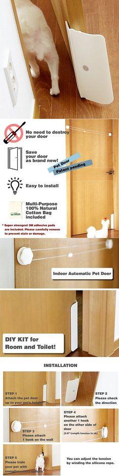 Doors And Flaps 117421: Haon Pet Door For Doggie And Cat Interior Door  White