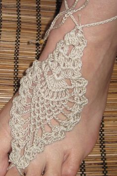 barefoot sandals crochet sexy yoga dancebelly dance by Kilegna