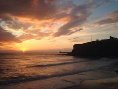 King Edwards bay beach tynemouth  7.30 am 9 th October 2014 www.tynemouthwebcam.com  #sunrise