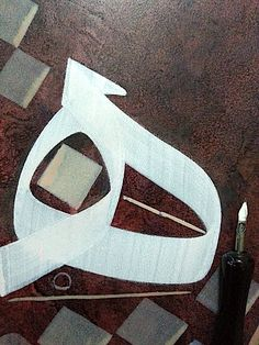 Arabic Calligraphy Art, Calligraphy Handwriting, Arabic Art, Calligraphy Lessons, Arabian Beauty, Illusions, Cool Art, Drawings, Painting