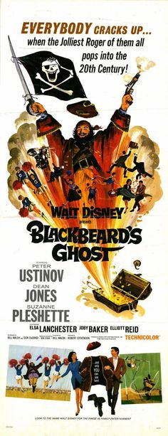 """BLACKBEARDS GHOST"" (1968) PETER USTINOV, DEAN JONES"