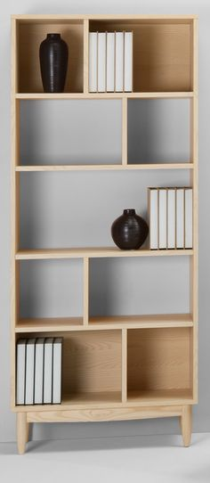 Penn Tall Shelving Unit, Pale Ash Penn is elegant and cool. Details are subtle but expressive and nothing has been overlooked. Crafted with clean lines and tapered legs. £299 | MADE.COM