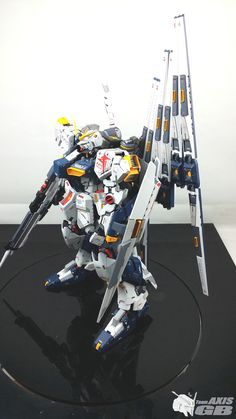 GUNDAM GUY: G-System 1/48 Nu Gundam Evolve - Painted Build