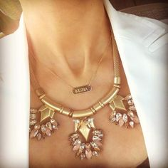 A gorgeous pairing: The Helena and Bar Signature Engravable BarNecklace | www.stelladot.com/elizabeth