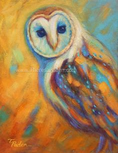 Daily Painters of California: Impressionistic Barn Owl Painting by Theresa Paden